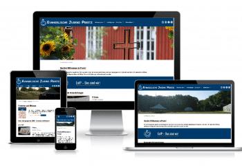 Die neue Webseite dargestellt auf Desktop, Laptop, Tablet und Smartphone